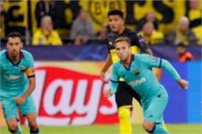 barcelona blocked borussia dortmund in the equalizer