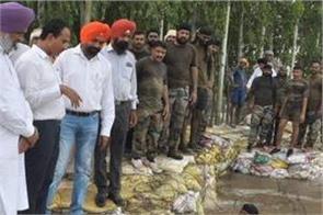 dhusi dam  relief work