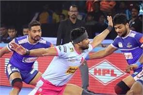 pro kabaddi league  jaipur play draw with haryana