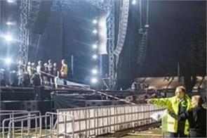 huge screen collapses rap concert germany
