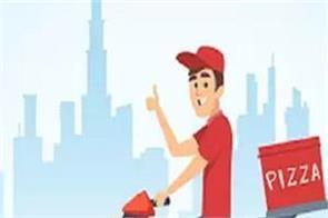 delhi pizza delivery corona positive 72 people home quarantine
