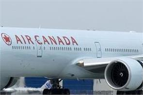 canadian airlines plane breaks  emergency landing
