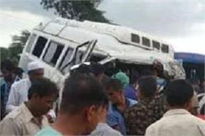 jodhpur bus jeep camper collision in balesar