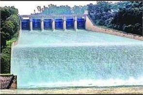 pong dam water level decrease  now bbmb not release more water