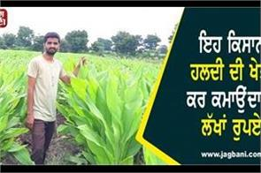 farmer earns millions of rupees by cultivating turmeric