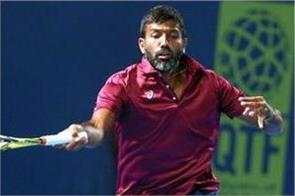 bopanna lost in the first round  ending the indian challenge at the french open
