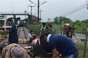 thailand bus and train collision