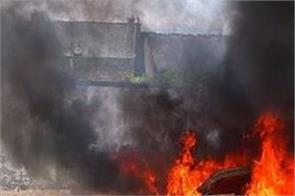 maharashtra car hand sanitizer fire ncp leader sanjay shinde death