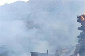destruction after loss of fire in kinnaur  loss of crores