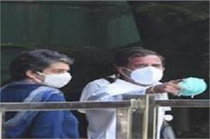 rahul gandhi priyanka gandhi hathras delegation gang rape victim