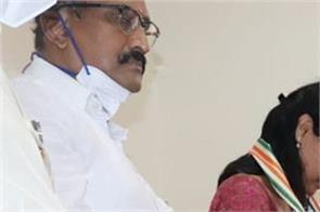 karnataka   kusuma wife of late ias officer dk ravi joins congress