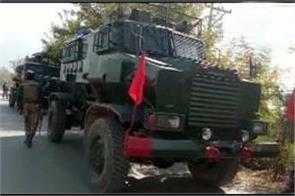 j k  encounter in shopian  security forces make a terrorist pile