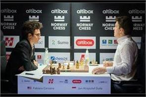 norwegian chess  lead by fabiano caruana of the united states