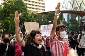 three finger salute youth s weapon in support of democracy in thailand
