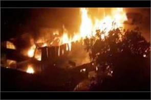 fire broke out in a furniture warehouse in sector 52 of gurugram