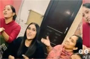afsana khan sung punjabi song titliaan with family