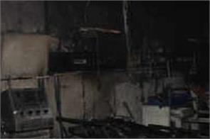 fire broke hospital in rajkot  killing 5 corona patients