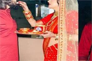 sapna choudhary and veer sahu karwa chauth pictures viral on social media