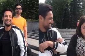 sajjan adeeb and shehnaaz kaur gill video viral on social media