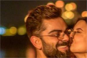 virat kohli birthday anushka sharma kiss pictures instagram