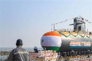 indian navy submarine vagir launch