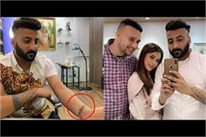 shehnaaz brother tattooed her name on his arm