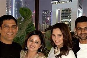 ms dhoni sakshi dhoni birthday party photos