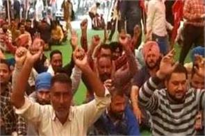 punjab roadways workers protest against government