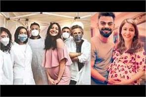 anushka sharma baby bump pics with team on set