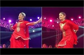 sapna choudhary back on stage after giving birth to a child last month
