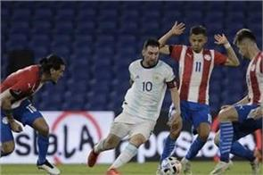paraguay stopped argentina in a draw