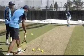 kl rahul starts training with tennis ball video