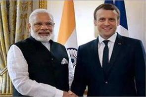 pm modi speaks on phone with french president