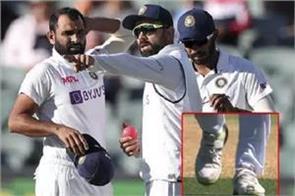 shammi is seen bowling against australia wearing torn boots