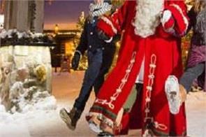 santa village merry christmas