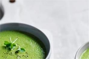 make and eat broccoli almond soup in the winter