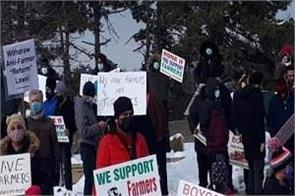 protests in hurntario  brampton farmers support