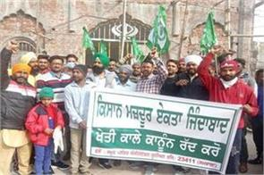 protest in favour of farmers