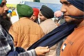 kisan andolan support turban langar worn by punjabis