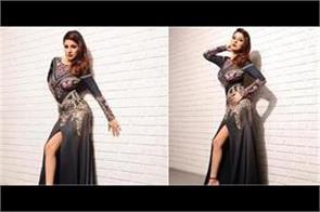 shehnaaz gill bold photoshoot in black dress
