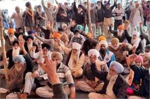 on the 70th day of the dharna  farmers chanted slogans