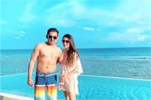 gautam gambhir maldives wife natasha photos