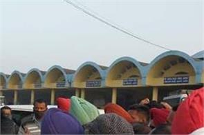 punjab roadways punbus contract workers union protest