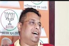 bjp leader soumitra khan wife divorce notice