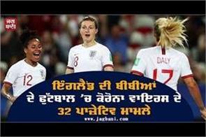 32 positive cases of corona virus in women s football in england