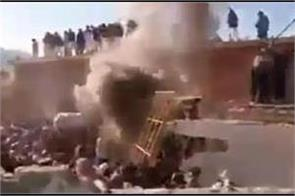 hindu temple destroyed set on fire by mob in pakistan