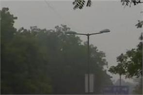 delhi ncr rain frost pollution