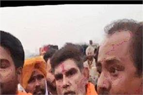 mata naina devi temple protest police