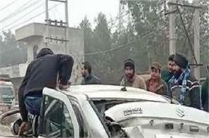 flyover  cars  jalandhar  road accident