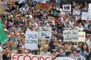 protest across australia rally bushfire crisis